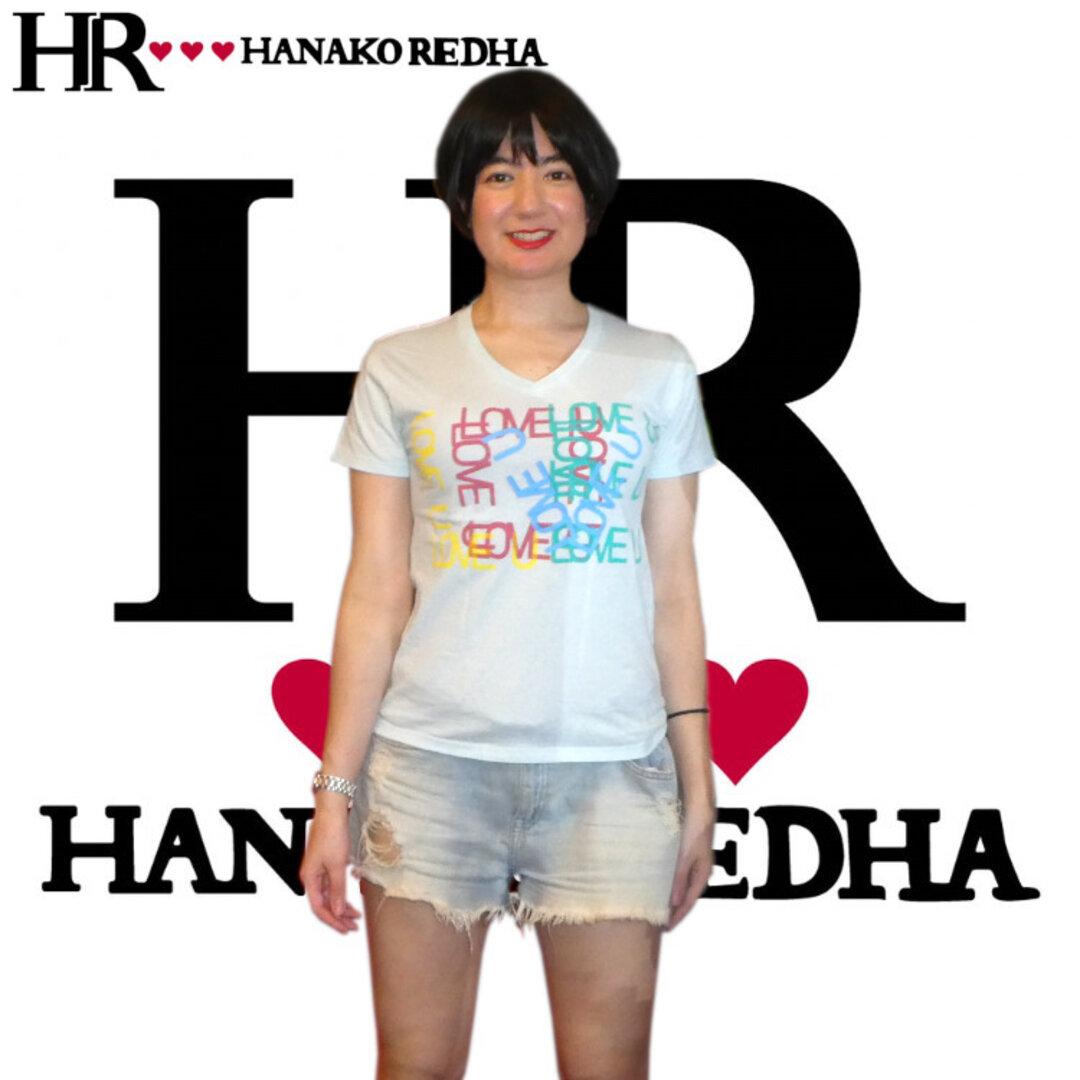 カラフル LOVE Tシャツ(Vネックベビーブルー)//XSサイズ