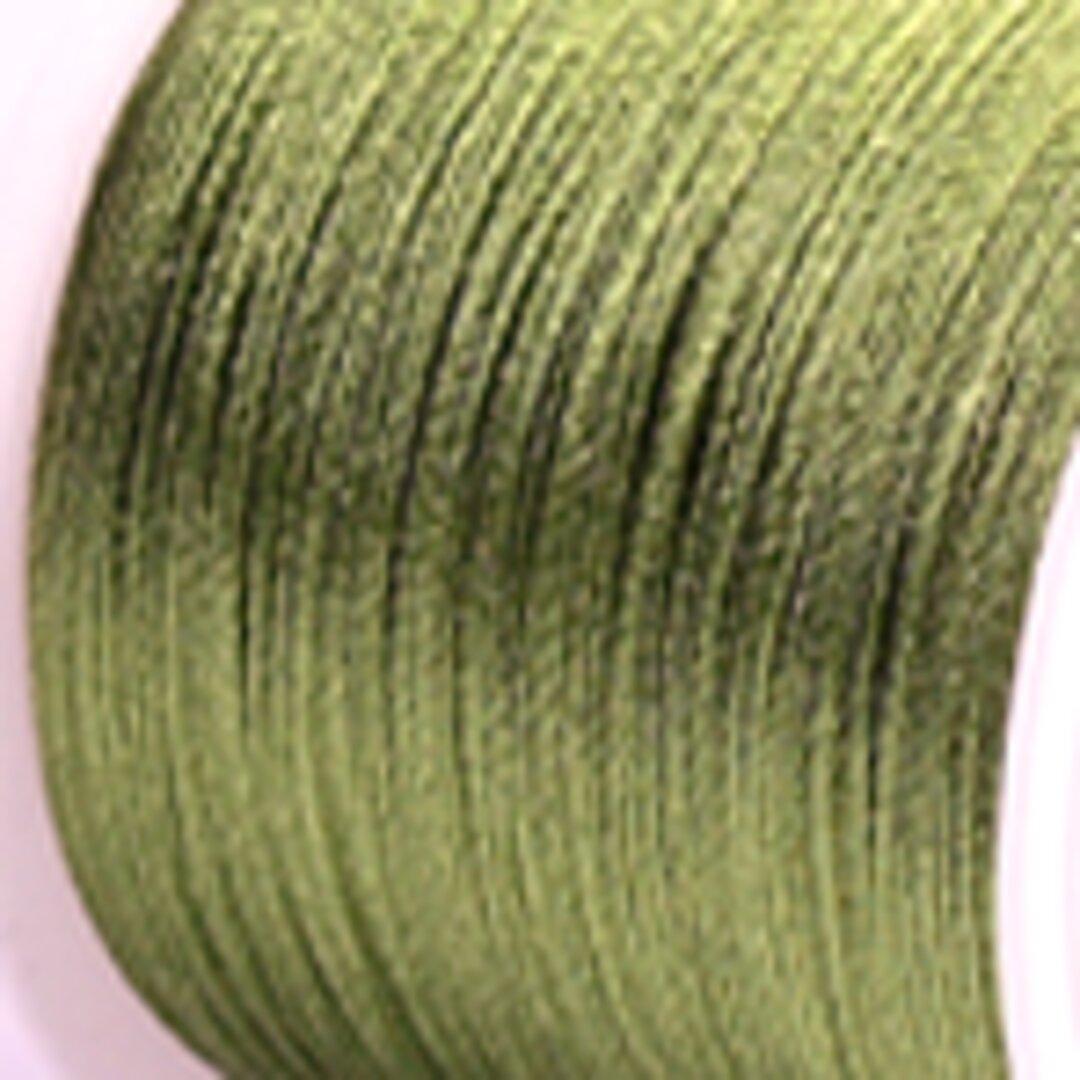 【抹茶緑】P008:中国結び用紐0.5mm (台湾AB線・72号)22メートル単位売