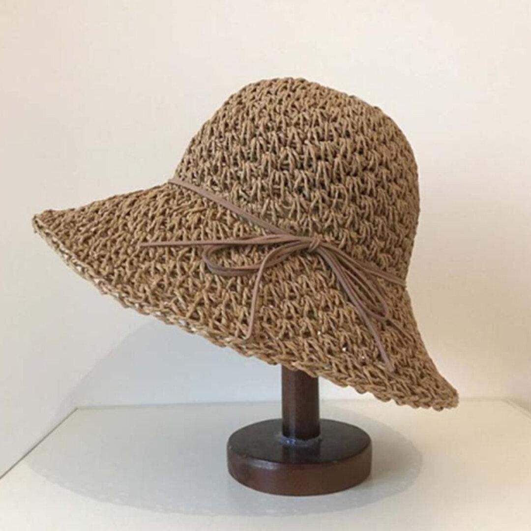 帽子☀夏帽子 アウトドア レディース 夏 ハット 夏のお出かけ ストローハット ハンドメイド 日よけ帽子