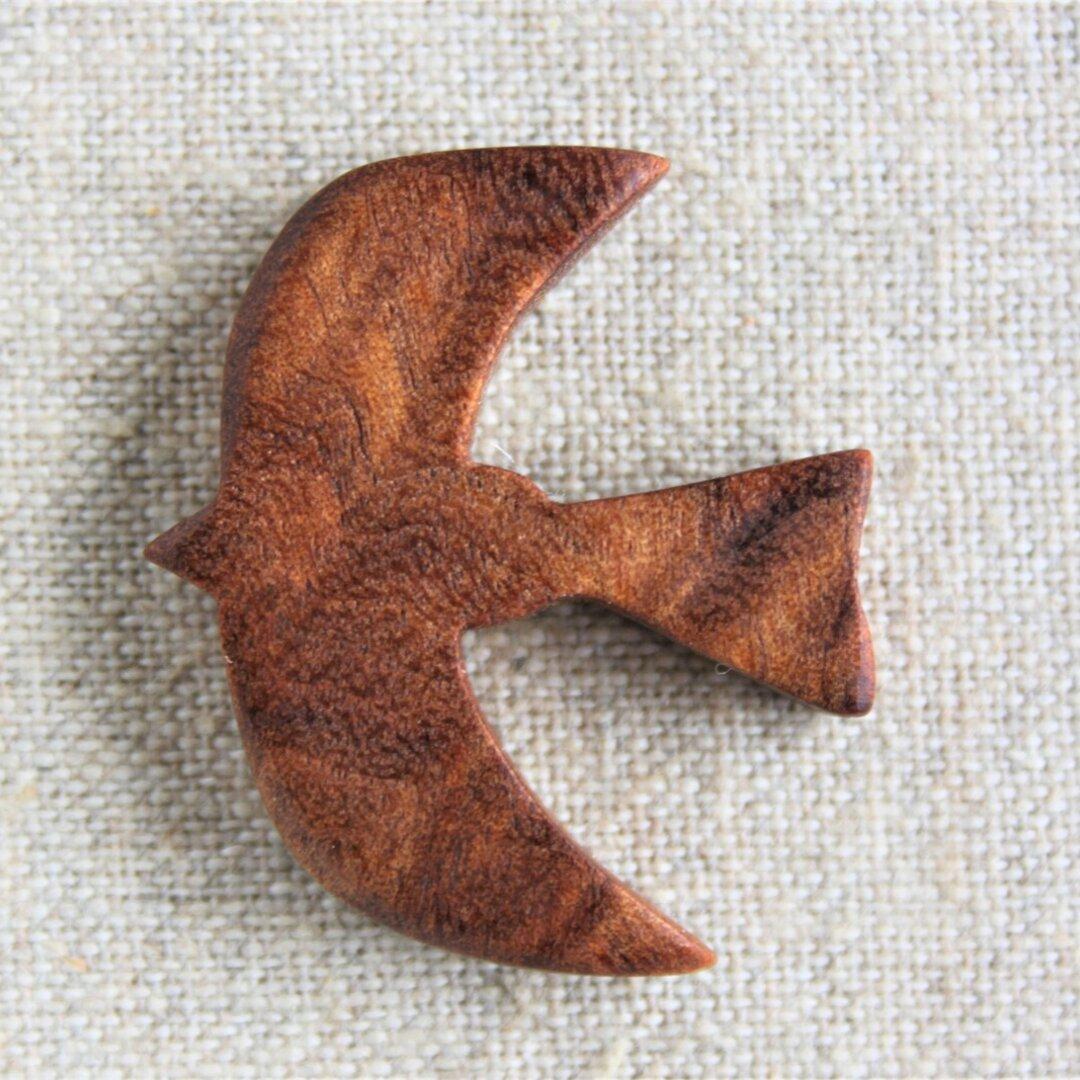 珍しい木で作った鳥アクセサリー(セミオーダー)