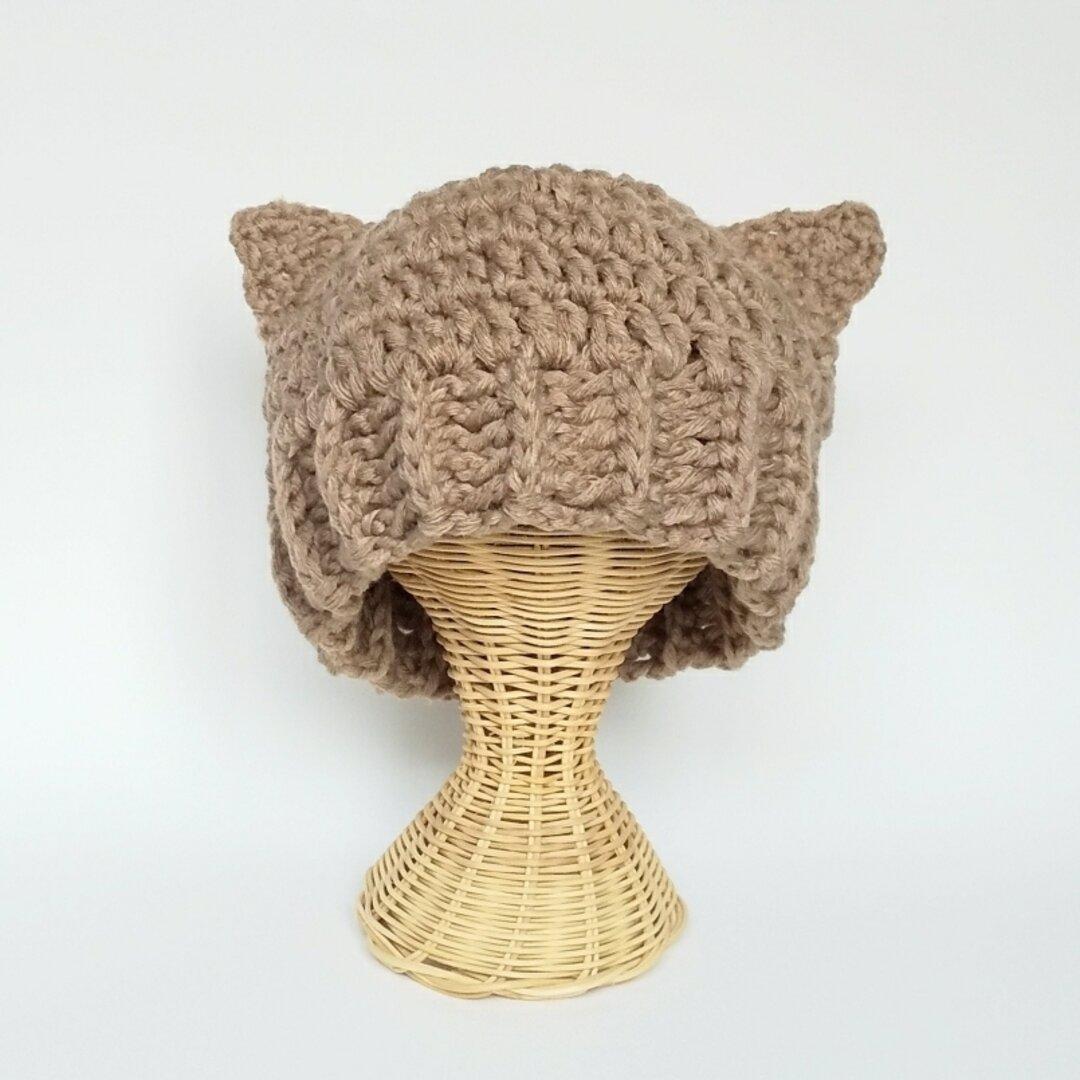茶猫耳ニット帽