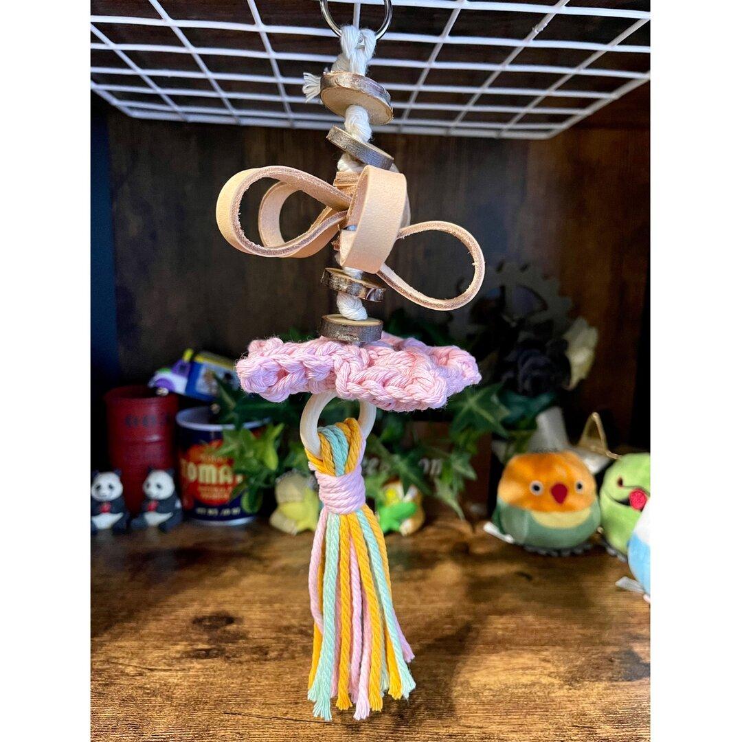 鳥さんのおもちゃ 星に願いを⭐️ 大サイズ ピンク