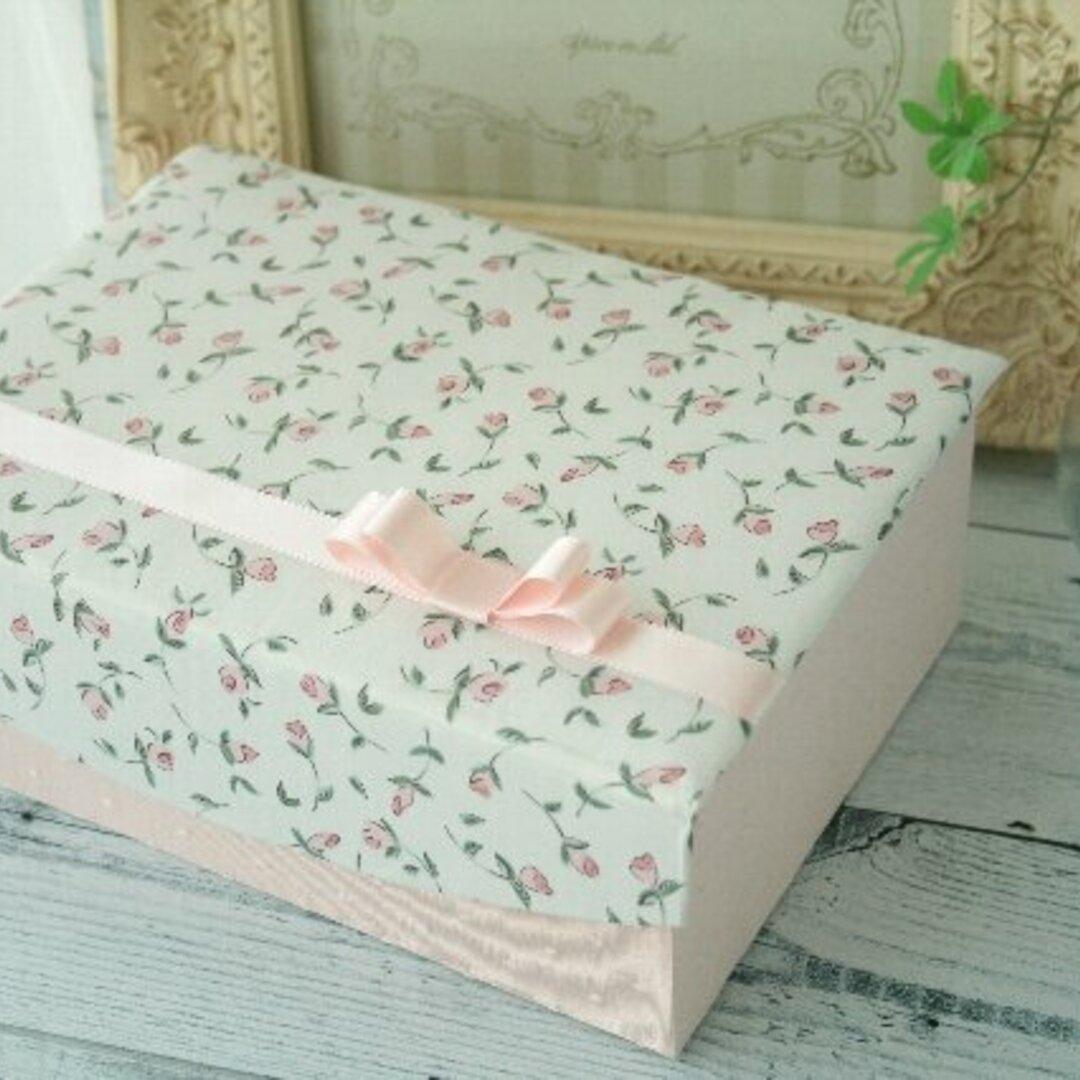 2段ボックス  リバティ フローティングフローラ 裁縫箱 ソーイングボックス アクセサリーボックス