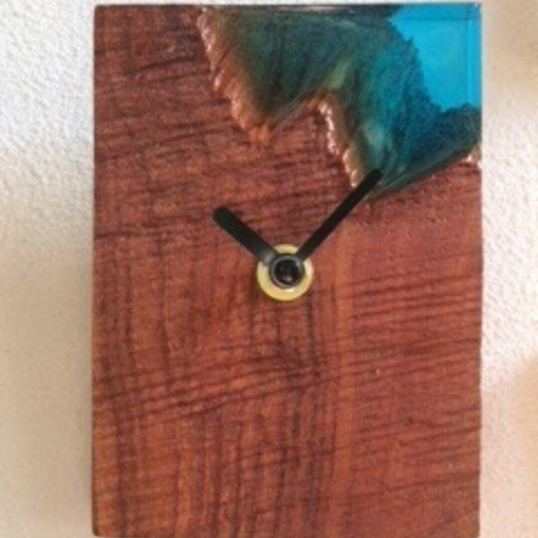 レジン クロック ウッド おしゃれ かっこいい 壁掛け時計
