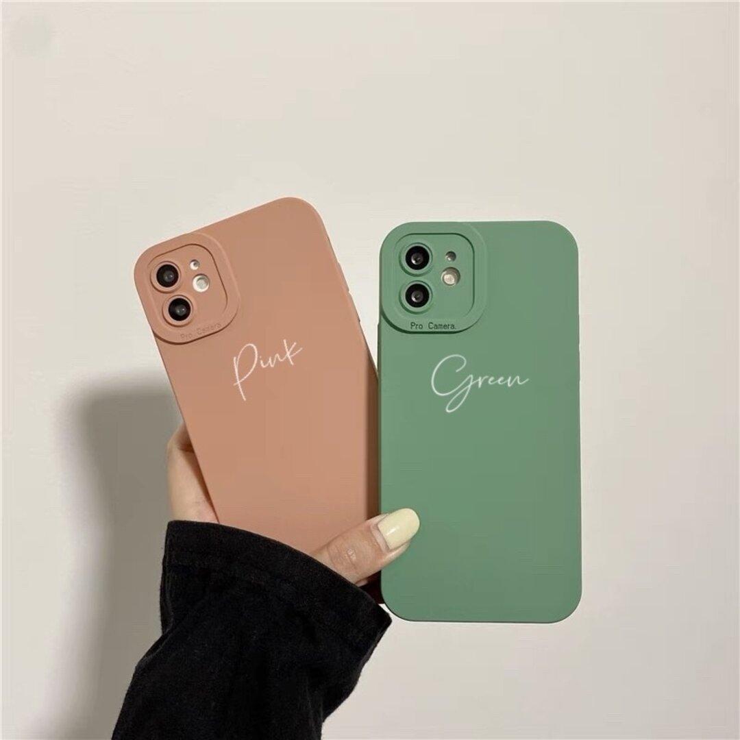 【秋色】文字入れ iPhone13  iPhone13pro iphone12 iphone12pro スマホケース