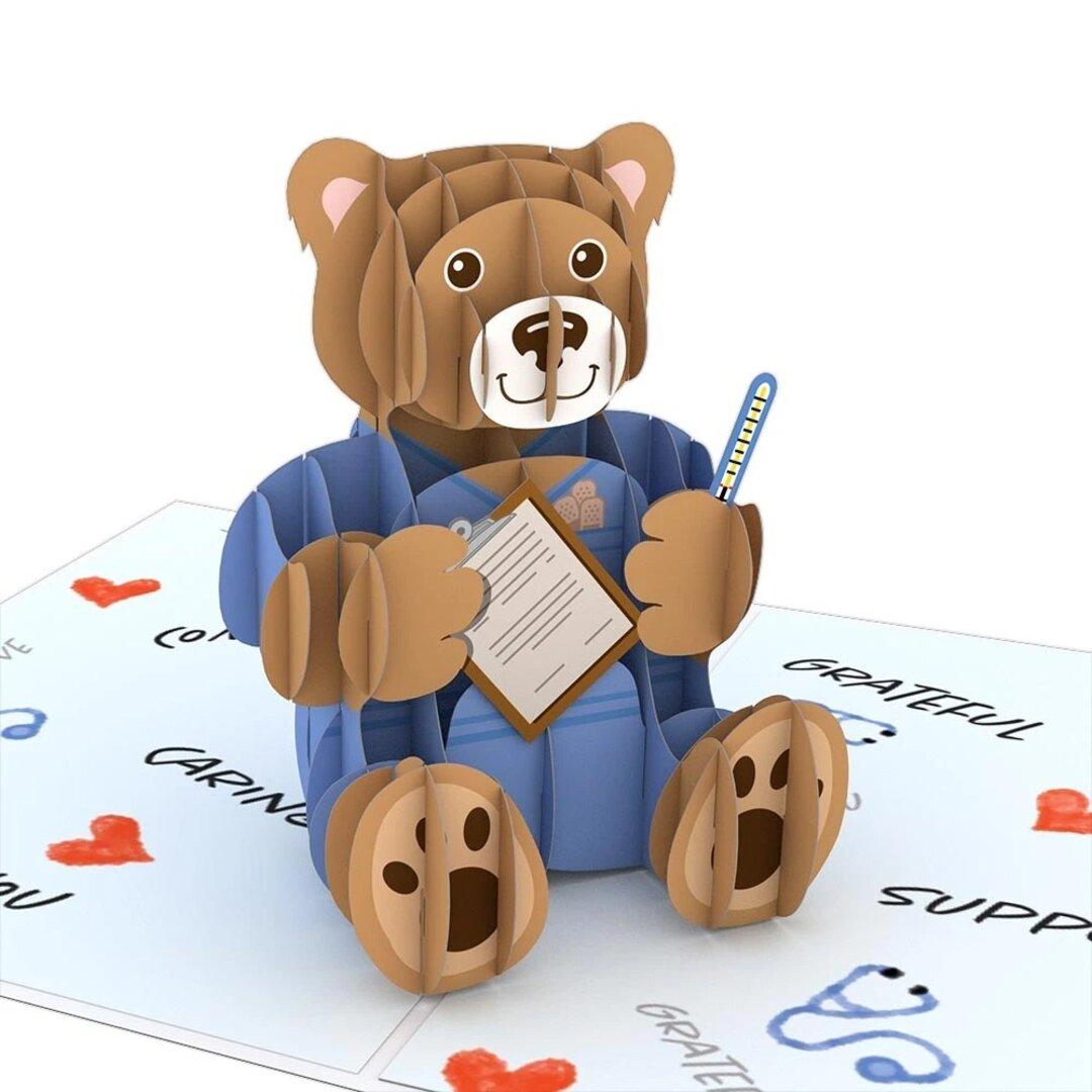 ポップアップグリーティングカード Nurse Bear