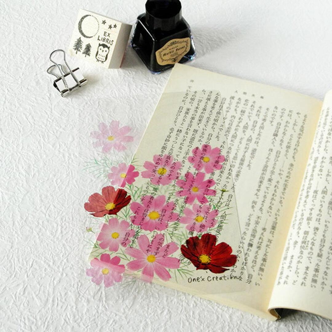 透明しおり 揺れる秋桜