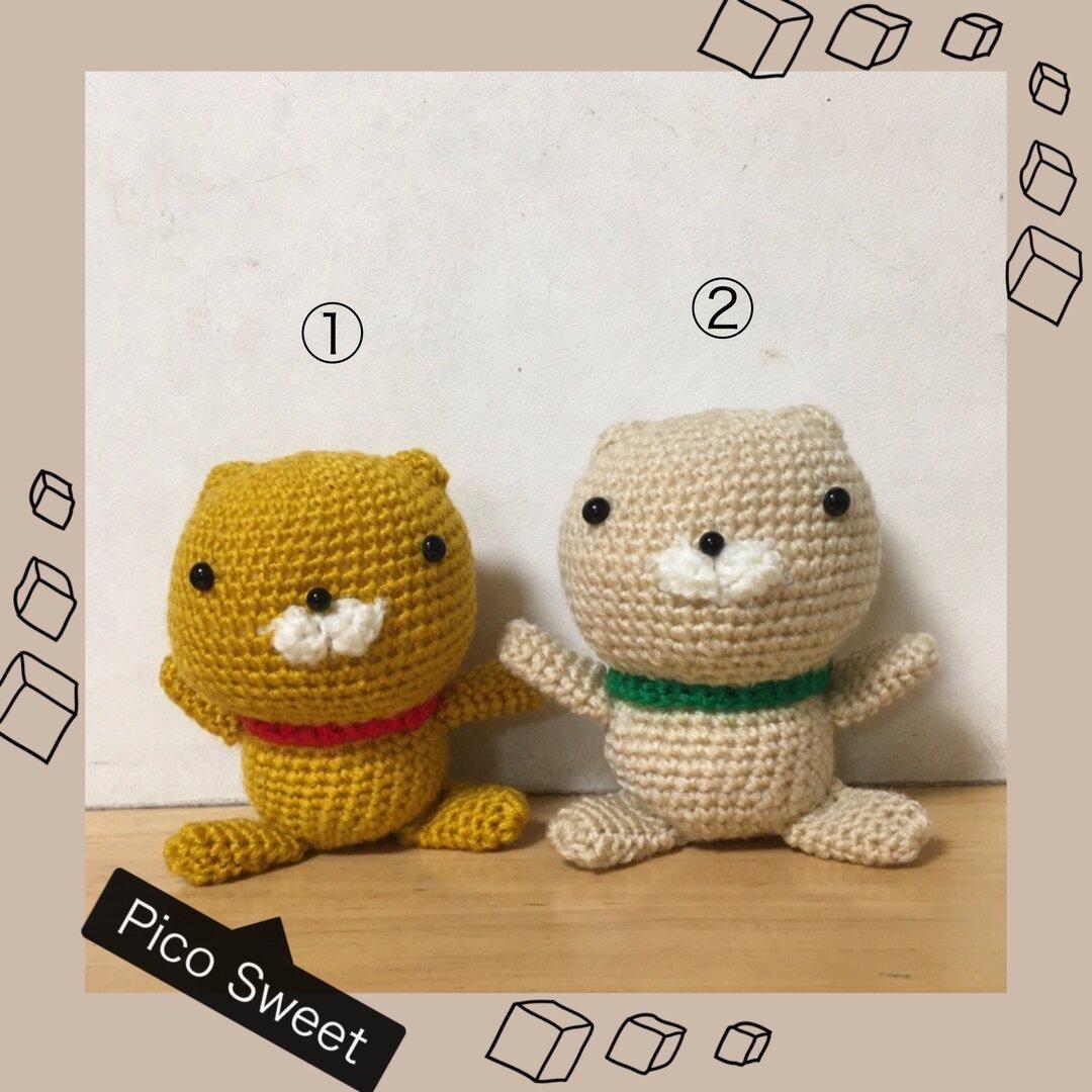 ♪おうち時間を楽しく♪ネコの編みぐるみ②