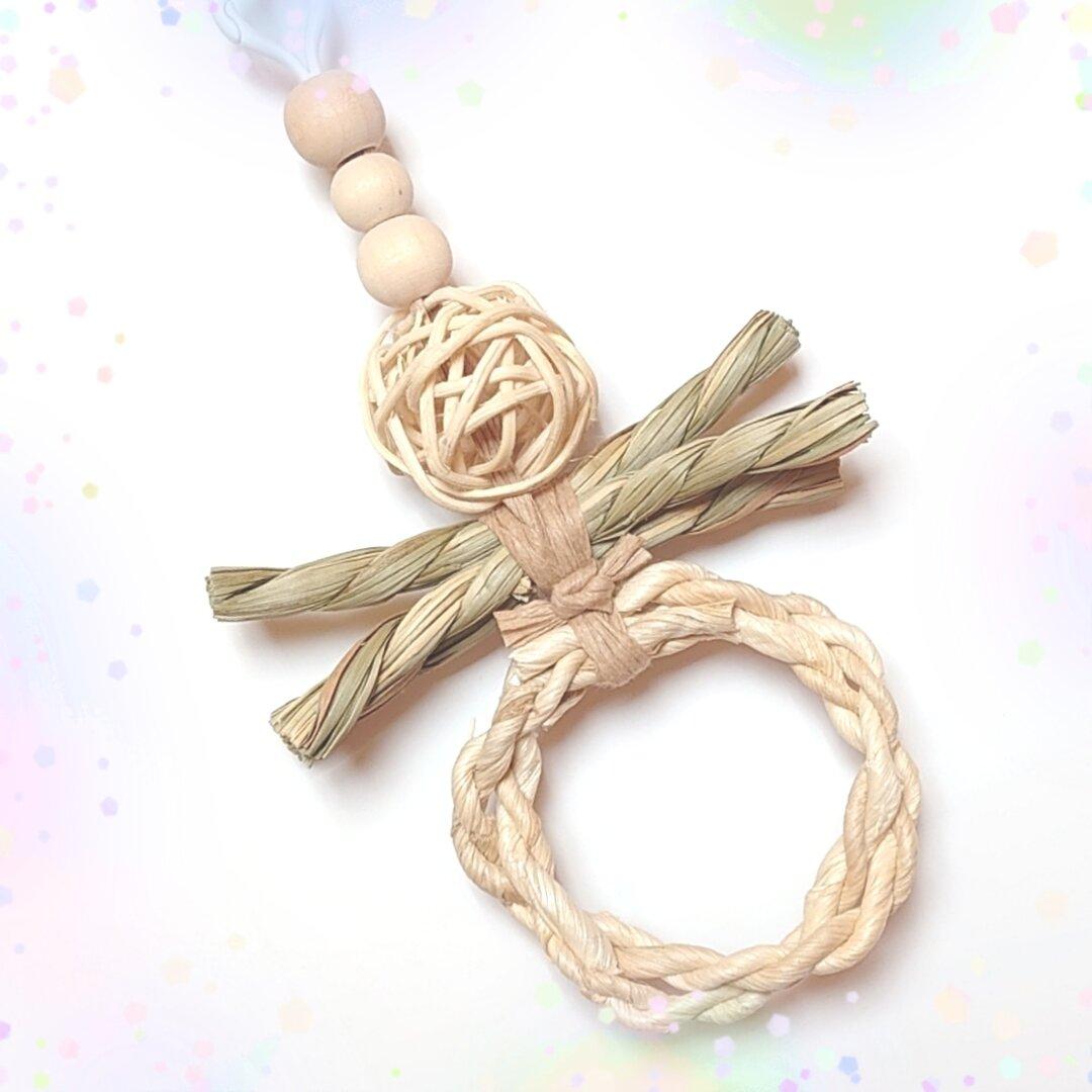 送料無料【団子(ラタン)とアスパラガス(い草)】インコ・鳥のおもちゃ