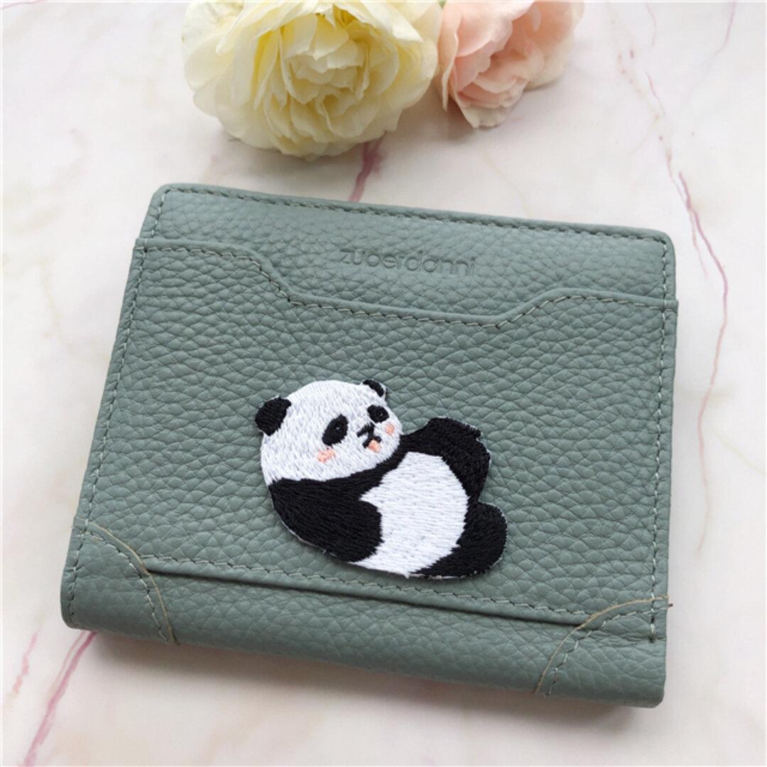 パンダ 小銭入れは  コンパクト 二つ折り財布 コンパクト財布