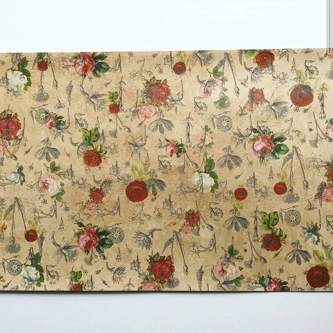 デザインペーパー antique flower2 10枚