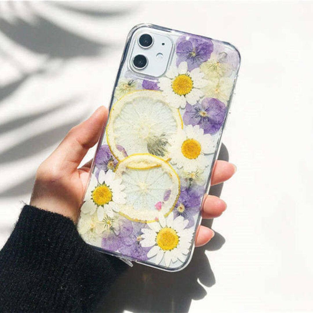 スマホケース iPhone ケース 押し花ケース iPhone 12 / iPhone 11/ Glaxy s20 s10/ AQUOS ...