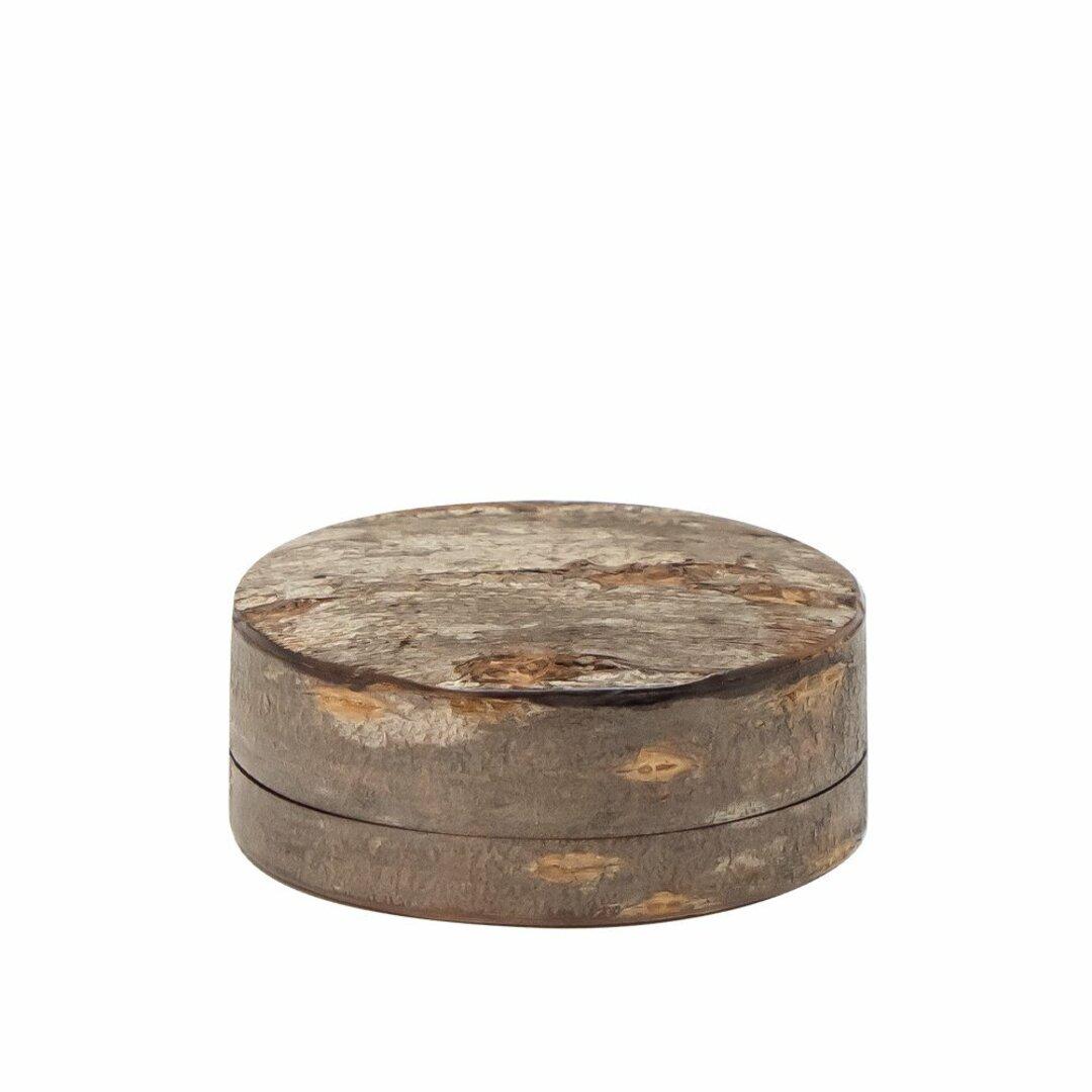 桜皮を使った秋田の伝統工芸品「樺細工」 ROUND CASE M YATSU