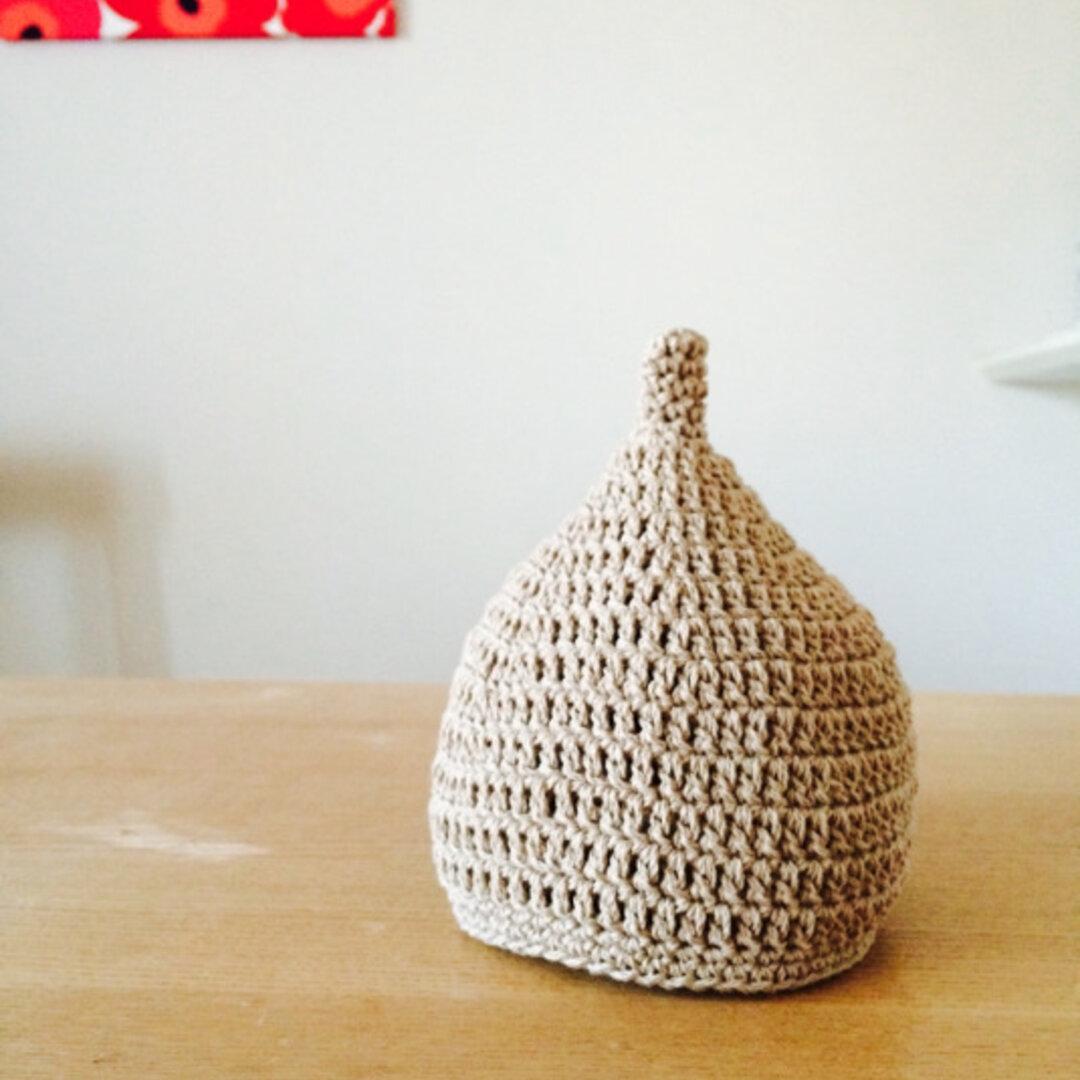 コットン100%のどんぐり帽(カフェオレ)