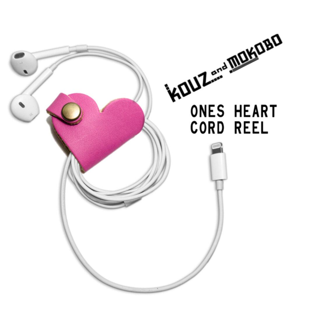 ▲ONES 恋唄、聴くならキュン♡ピンク「ワンズハート コードリール」USBケーブルもOK(OHC-PP)