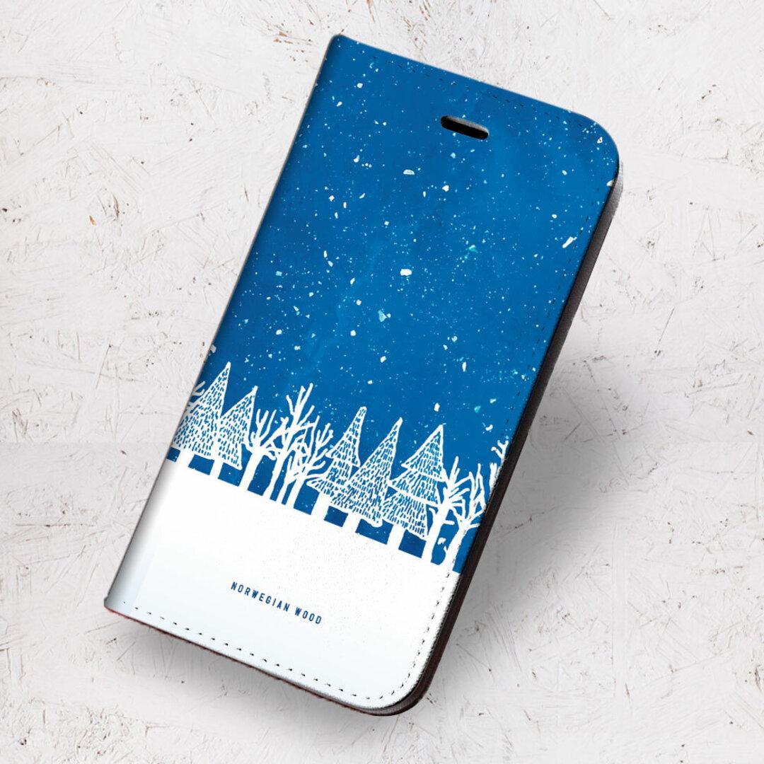 iPhone 専用 フラップ無し手帳型ケース ★ノルウェーの森