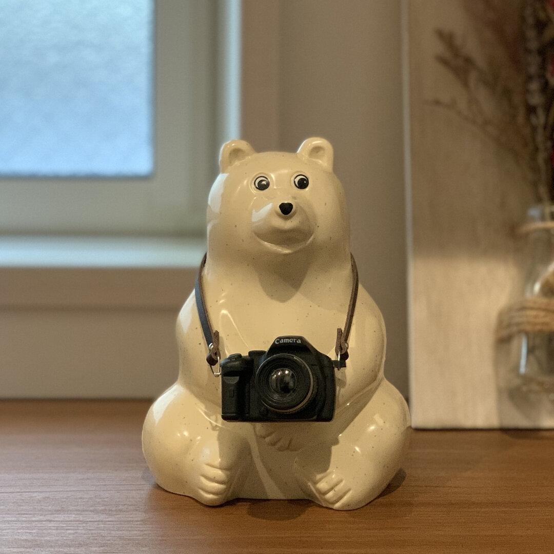 【再販】しろくま貯金箱 カメラ