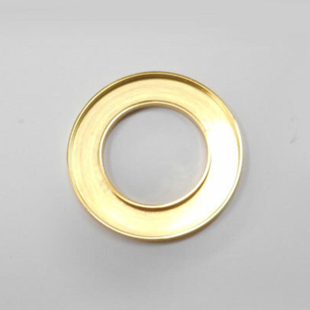 S◆Pキラキラ アクセサリー パーツ サークル 円形 チャーム 外径:25.0mm 手作り (ハンドメイド) ペンダントフレーム パーツ ステンレス316L (ゴールド)