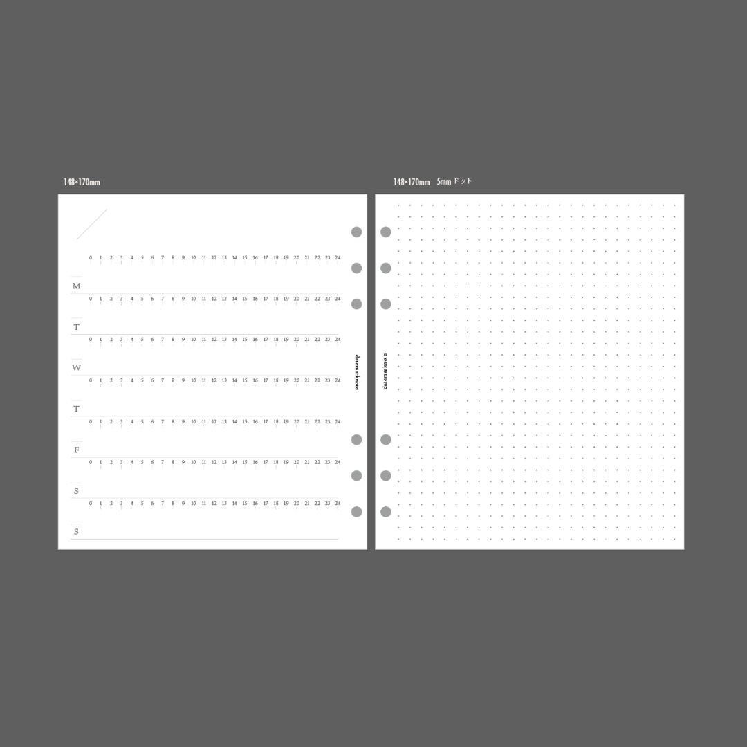 【HB×WA5サイズ】ウィークリーレフト24h システム手帳リフィル