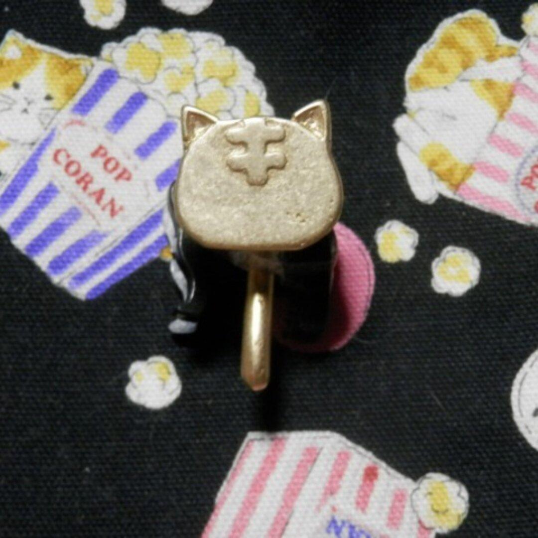 猫ちゃんの顔ミニ ポニーフック 茶トラVer.9