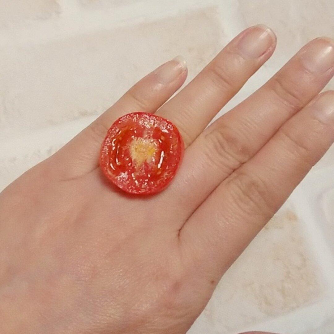 食品サンプル☆ミニトマトのリング 指輪☆11号