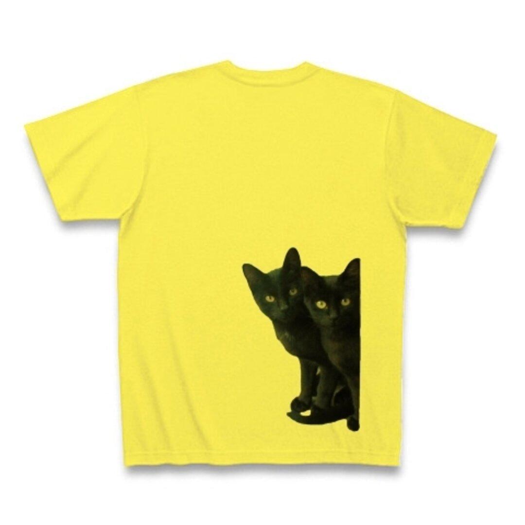 黒猫は見た・バックプリント Tシャツ(送料込み)