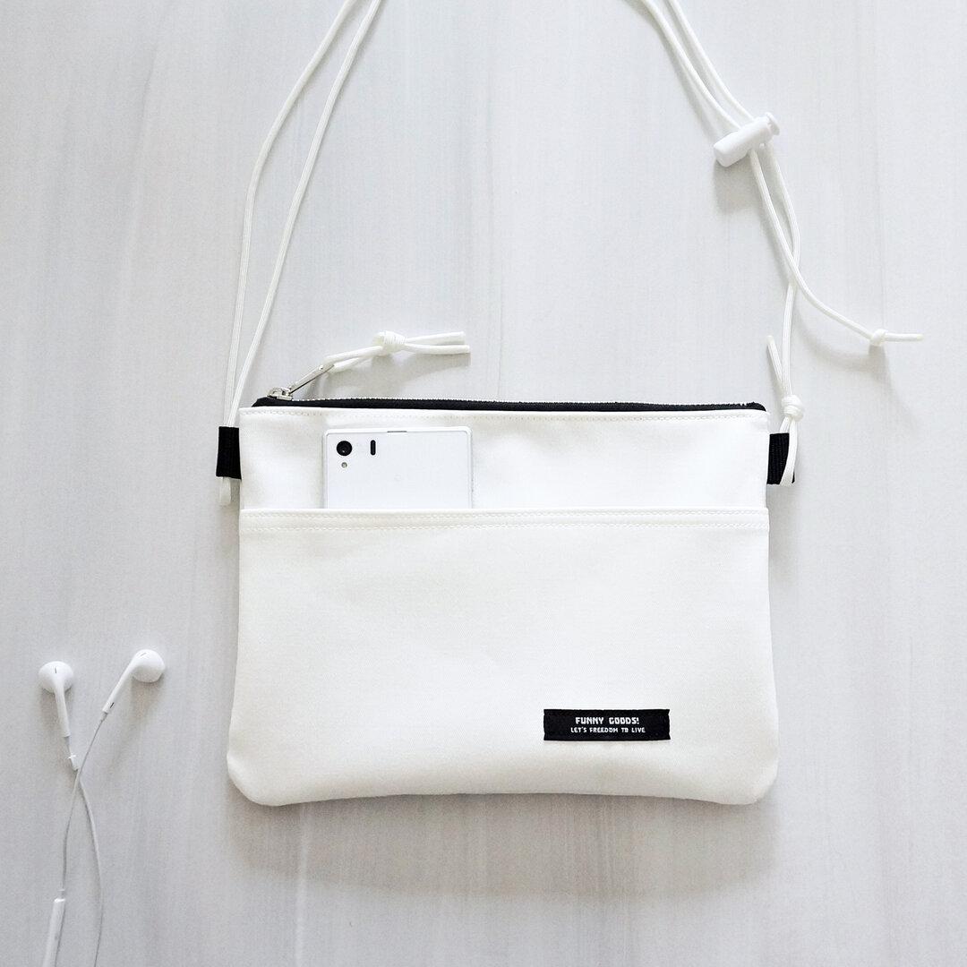 WHITE×WHITE サコッシュバッグ ホワイトデニム