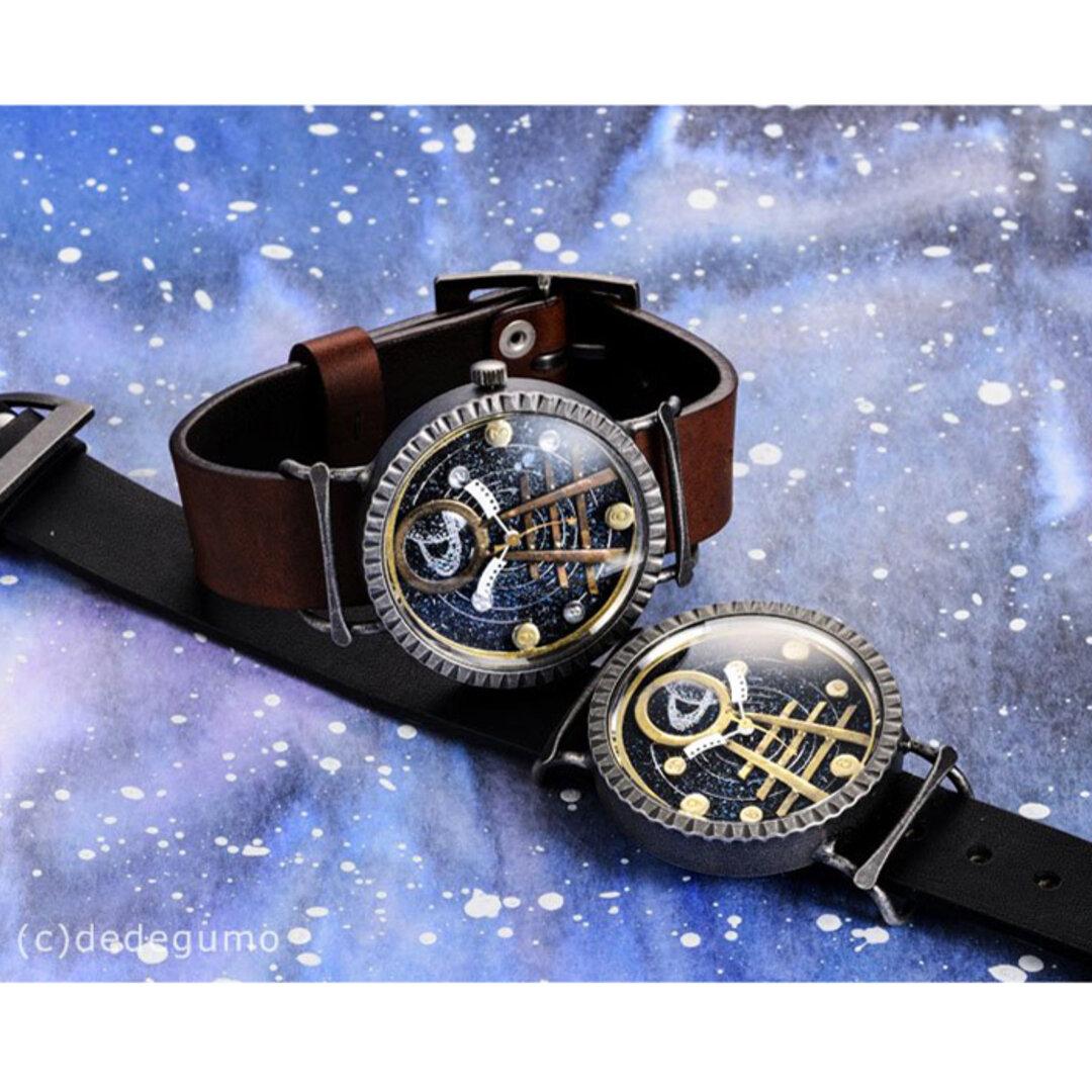 【SALE】「銀河鉄道」手作り時計 ベルトカラ―3色/名入れ