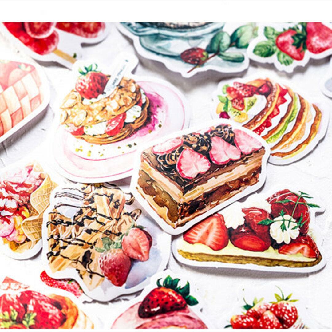 ♥甘いいちごケーキ アイスクリーム🍓フレークシール