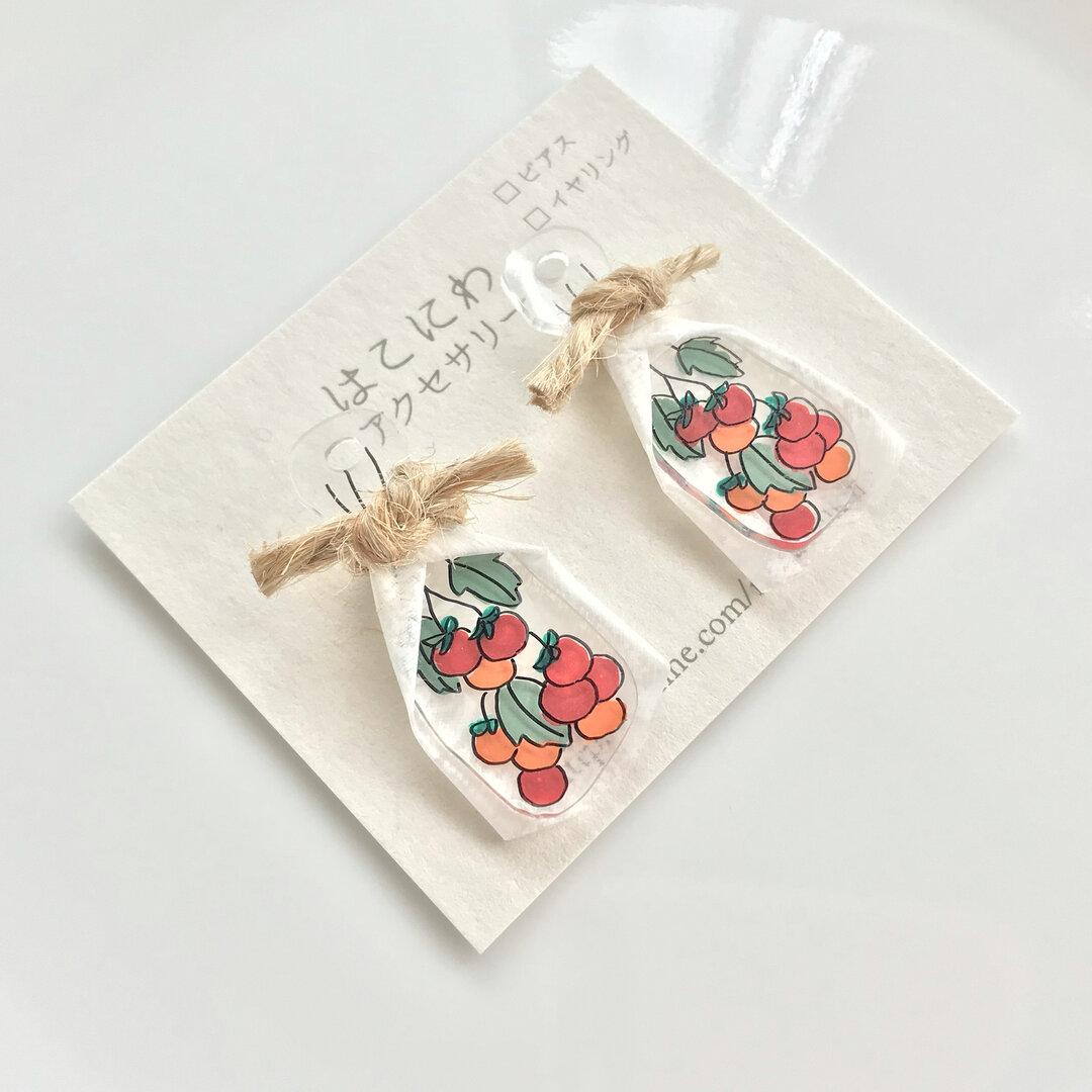 【野菜シリーズ】トマト✳︎スワッグ風ピアス/イヤリング