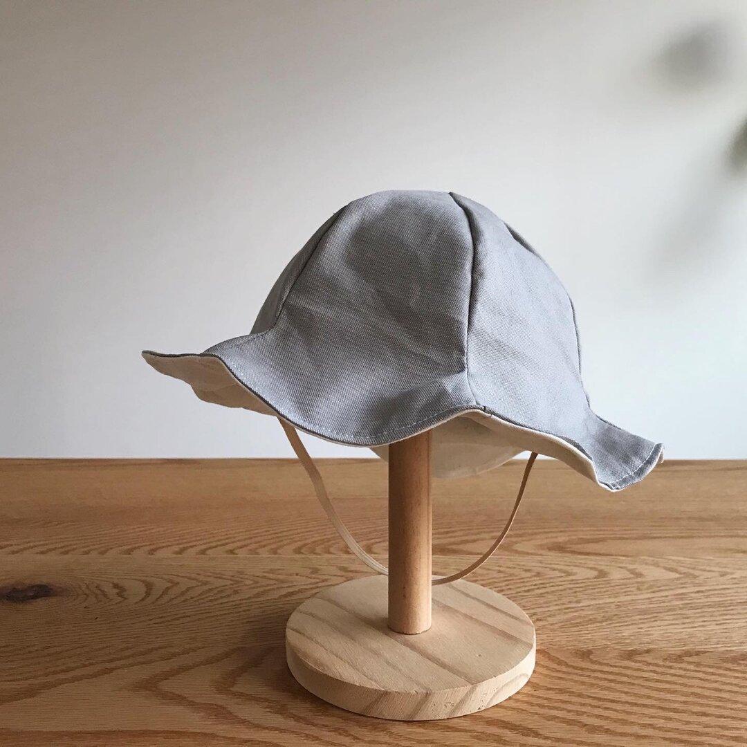 フレンチオックスのチューリップハット(グレージュ)/キッズ・ベビー用帽子