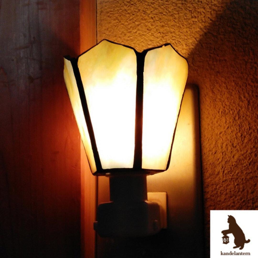 フットランプ(モダンロマン 幻想花) ステンドグラス おやすみランプ コンセント ライト