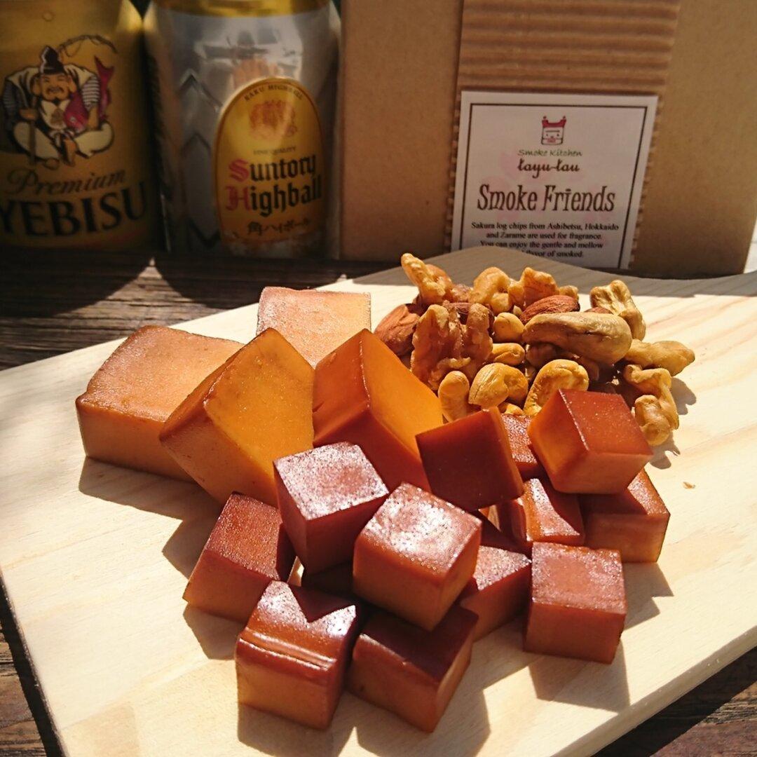 ☆【プチギフト・個包装】スモークチーズとスモークナッツのアソート10個入り クラフト 燻製 【送料無料】☆カジュアルな贈り物、ビールやワイン、お酒好きのあの人に!