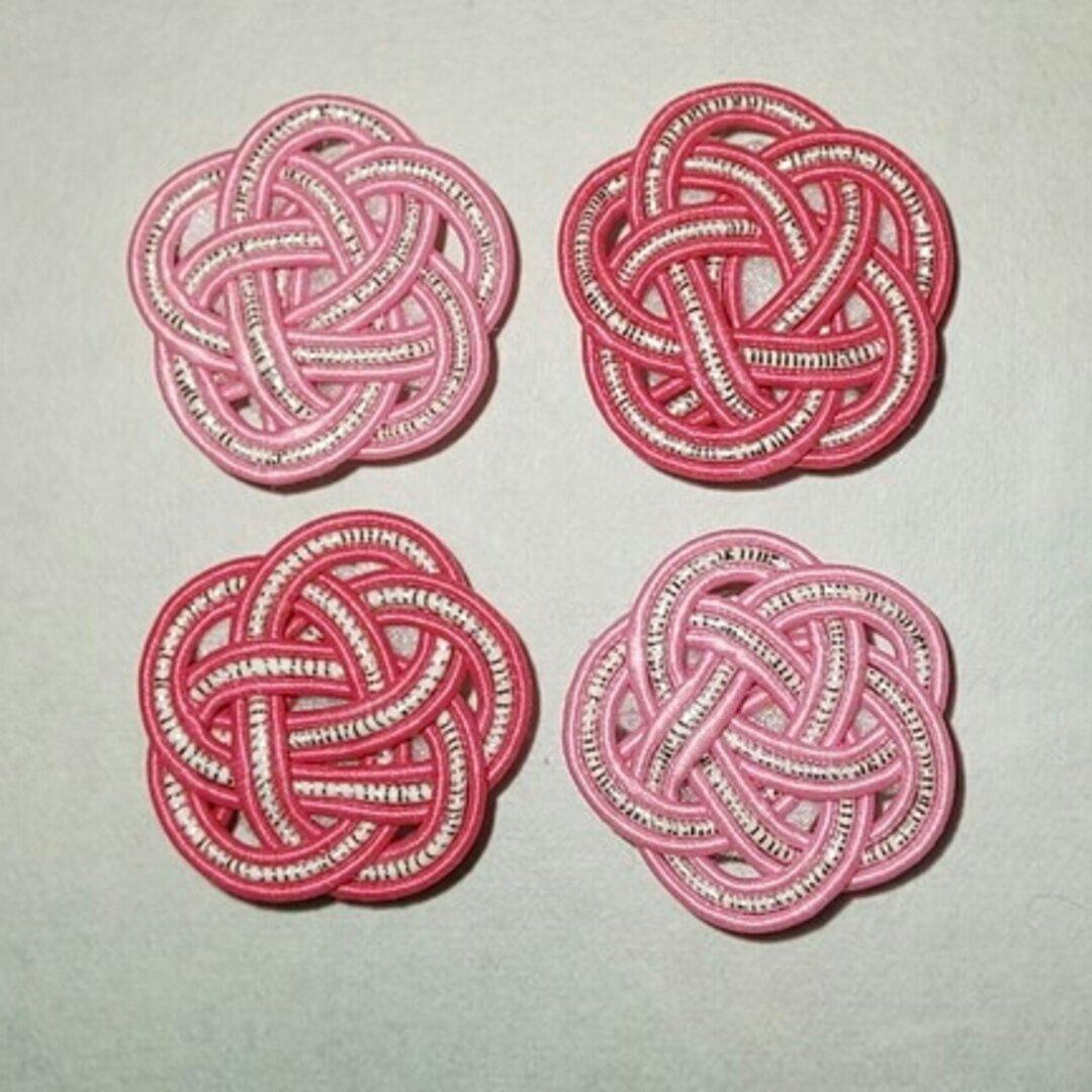 送料無料!水引梅結びのマグネット超強力 ピンク(色違い2個セット)