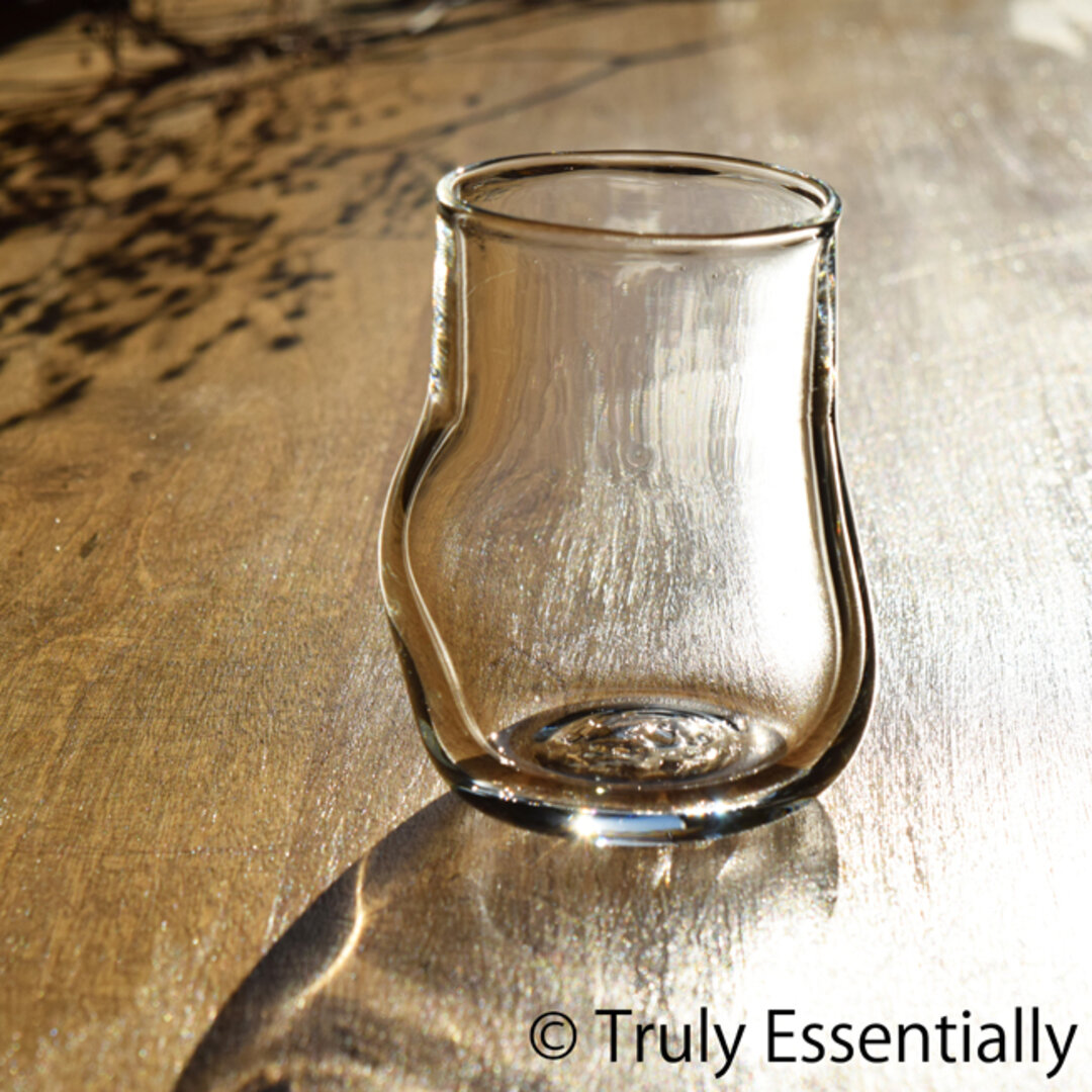 無色透明のグラス - 「KAZEの肌 」#389・ 高さ9cm●【 1点限定制作 】