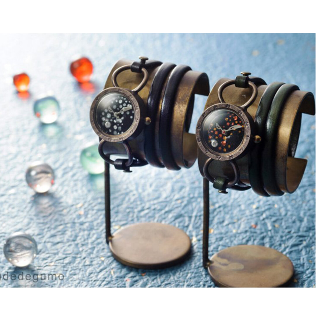 【SALE】「星屑」手作り時計 文字盤2色ベルトカラ―8色/名入れ可