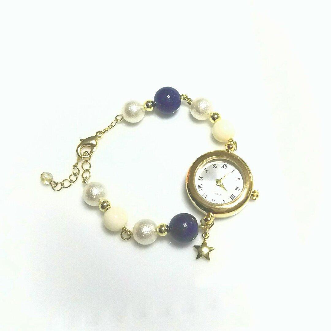 【再販×5】ブレスレットタイプの時計*星空~そら~