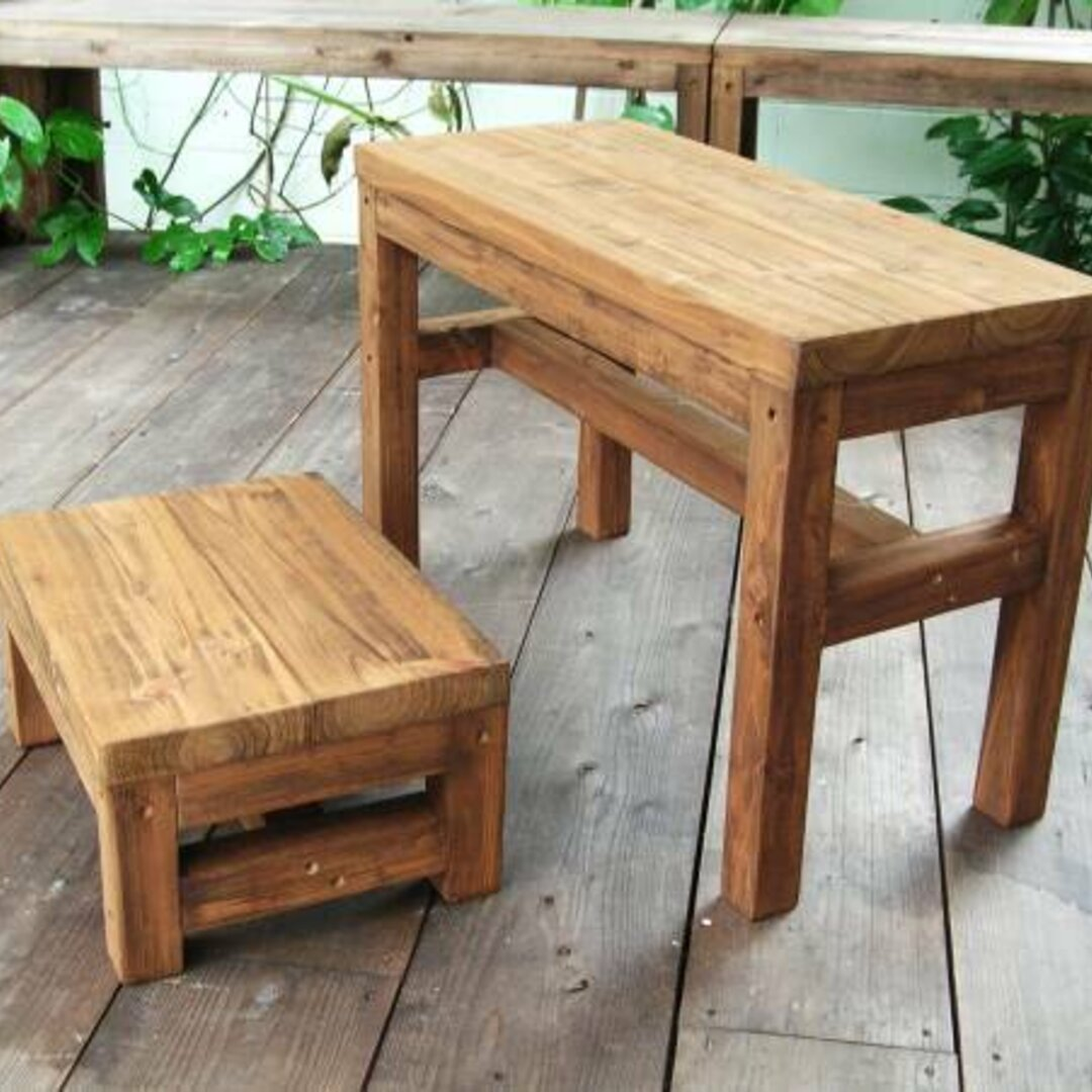 ベンチ&テーブルセット 子供サイズ