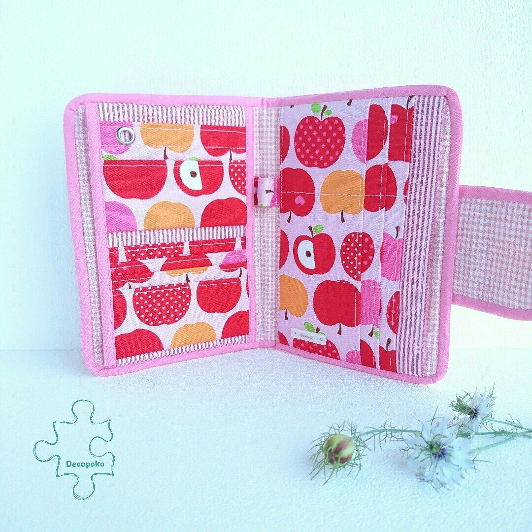 外向きポッケのマルチケース × ピンクりんごさん【送料無料】*便利なバッグインバッグ*