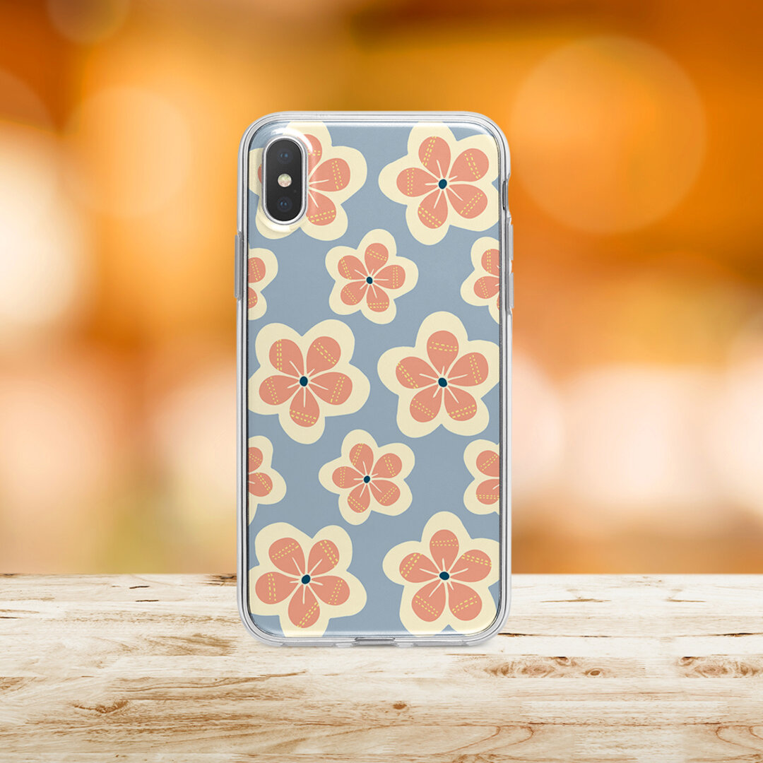 SE第2世代対応★再販♬北欧風♬『厳冬の小花』iPhone/android ほぼ全機種対応 スマホケース ハードケース iPhone11 Galaxy Huawei AQUOS arrows