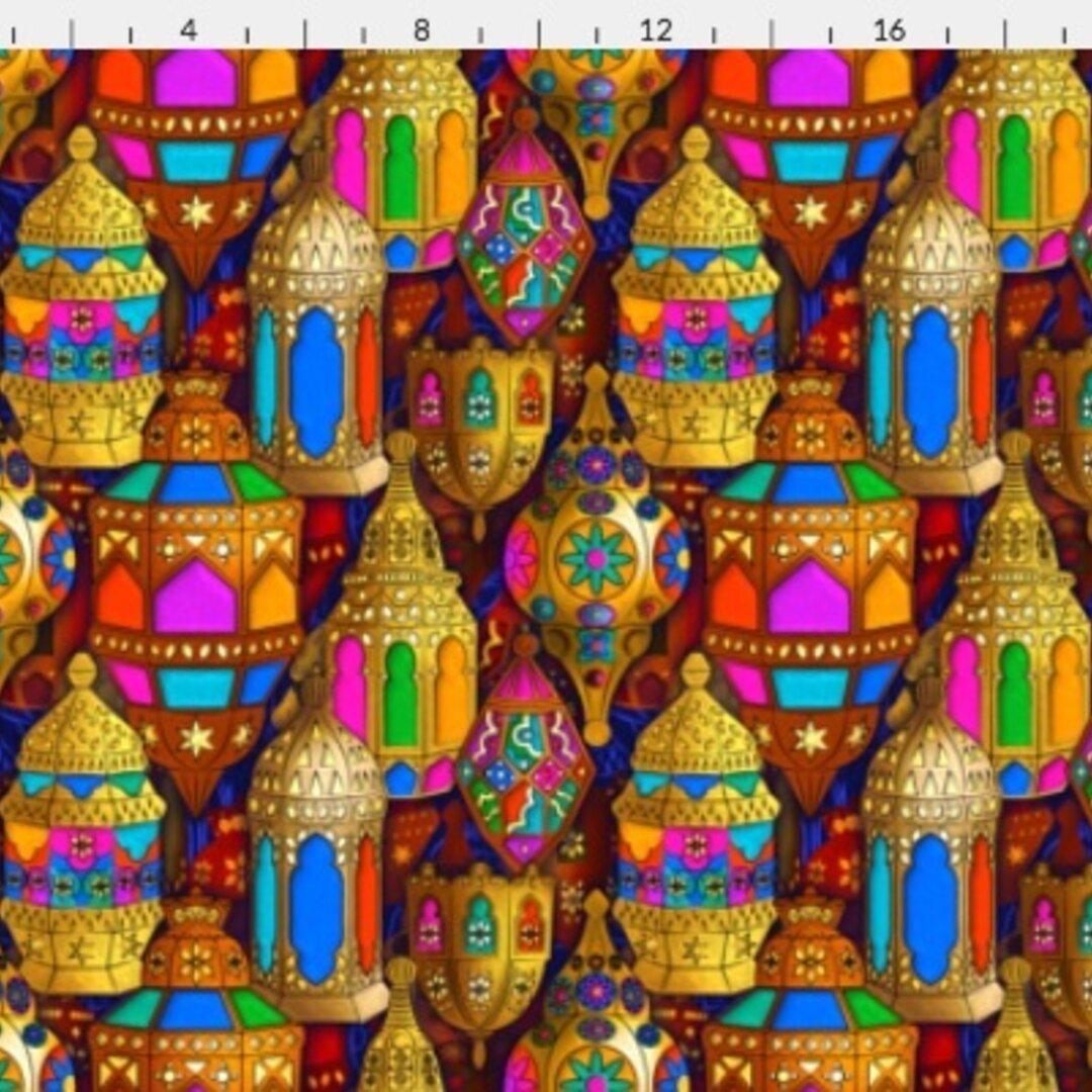 モロッカン柄 生地 可愛いモロッコスタイルのデザイン レア生地  輸入生地