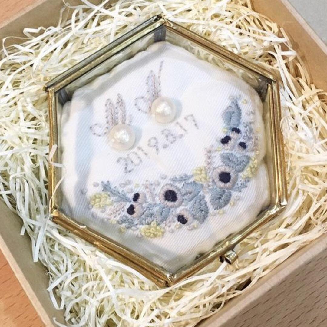 オリジナルリングピロー 刺繍 オーダーメイド 受注生産