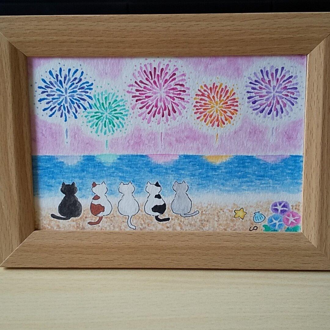 『海を見ていた猫・花火篇』原画