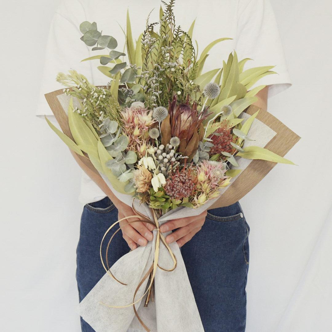 ネイティブフラワーブーケ Mサイズ ドライフラワー 花束 スワッグ