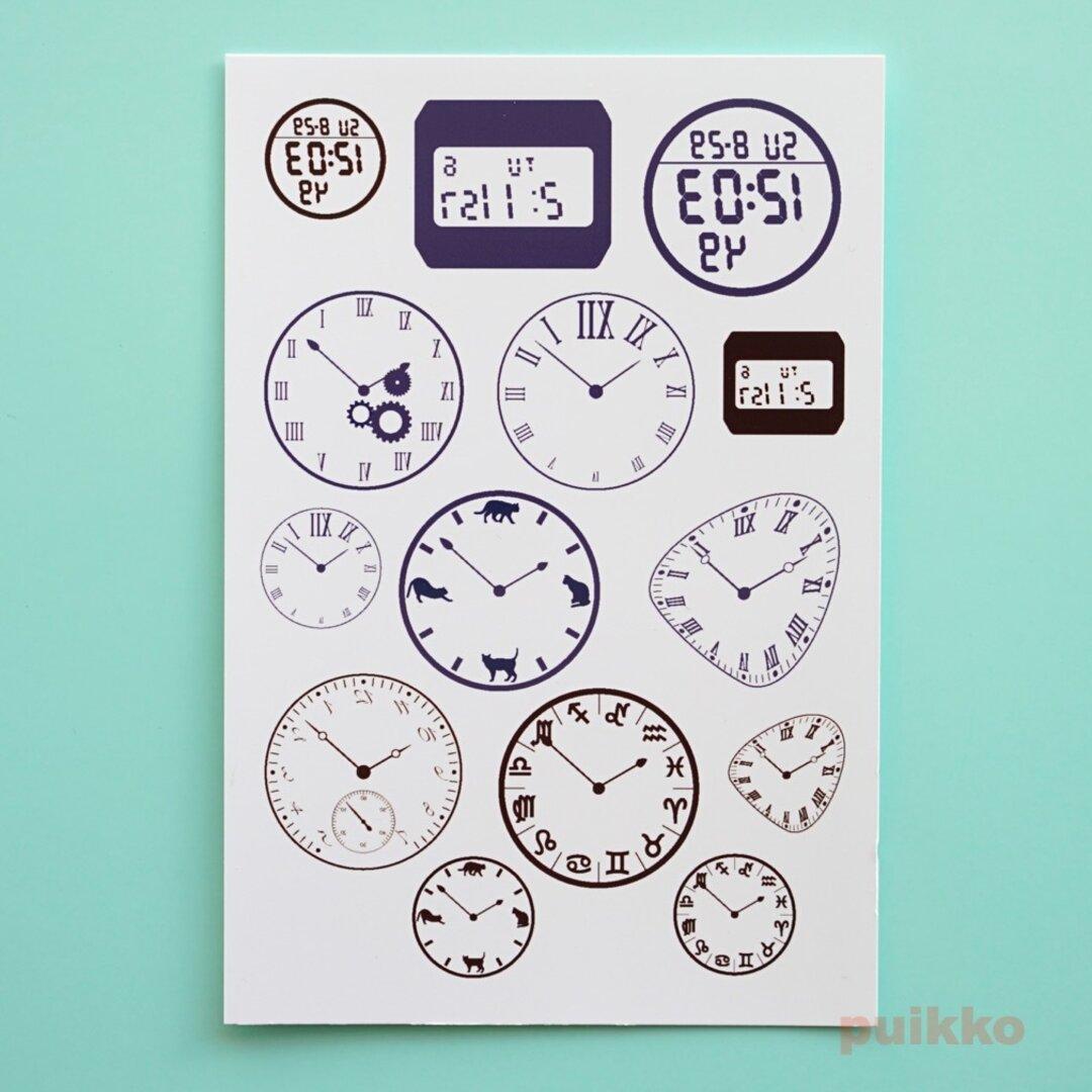 時計の文字盤2 タトゥーシール