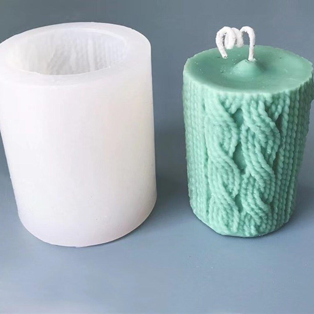 1p Nart Candle 毛糸柱のモールド シリコンモールド キャンドルモールド 毛糸柱