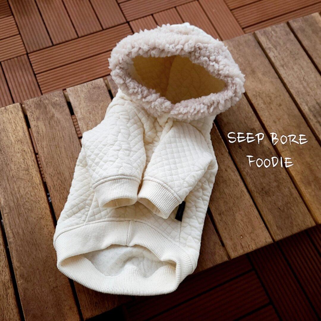 ◆犬服◆ ボア付き♡フードパーカー(ivory)