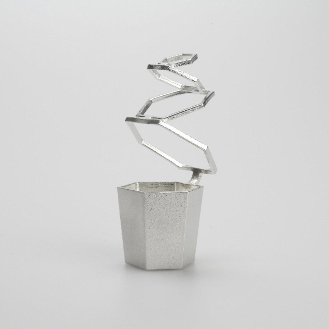HOOP(TAKAKU):錫 花器 花瓶 金属 伸縮 延命効果