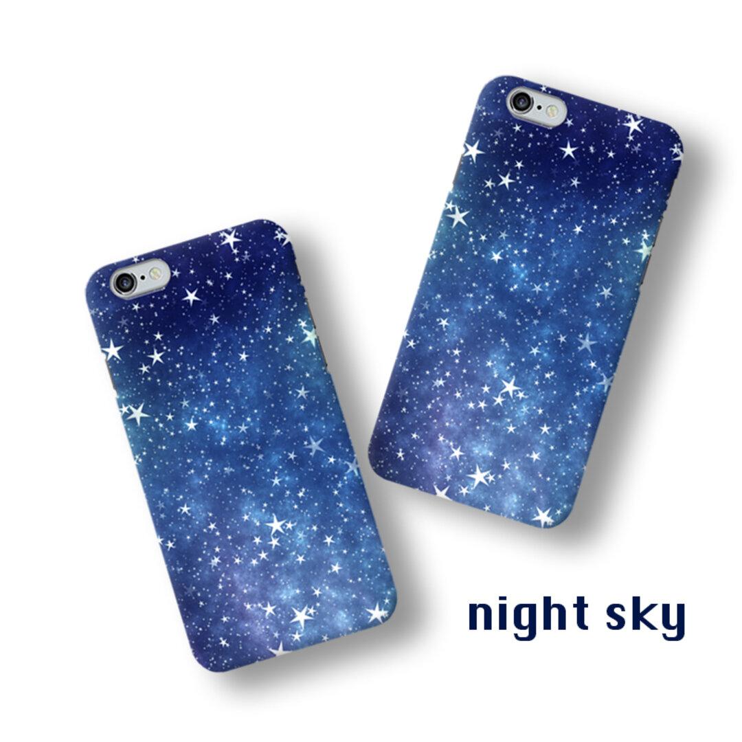 【特集掲載】夜空 night sky:スマホケース iPhoneXR XS Max XS X 8 8Plus 7 7Plus SE Xperia Galaxy ARROWS ハードケース