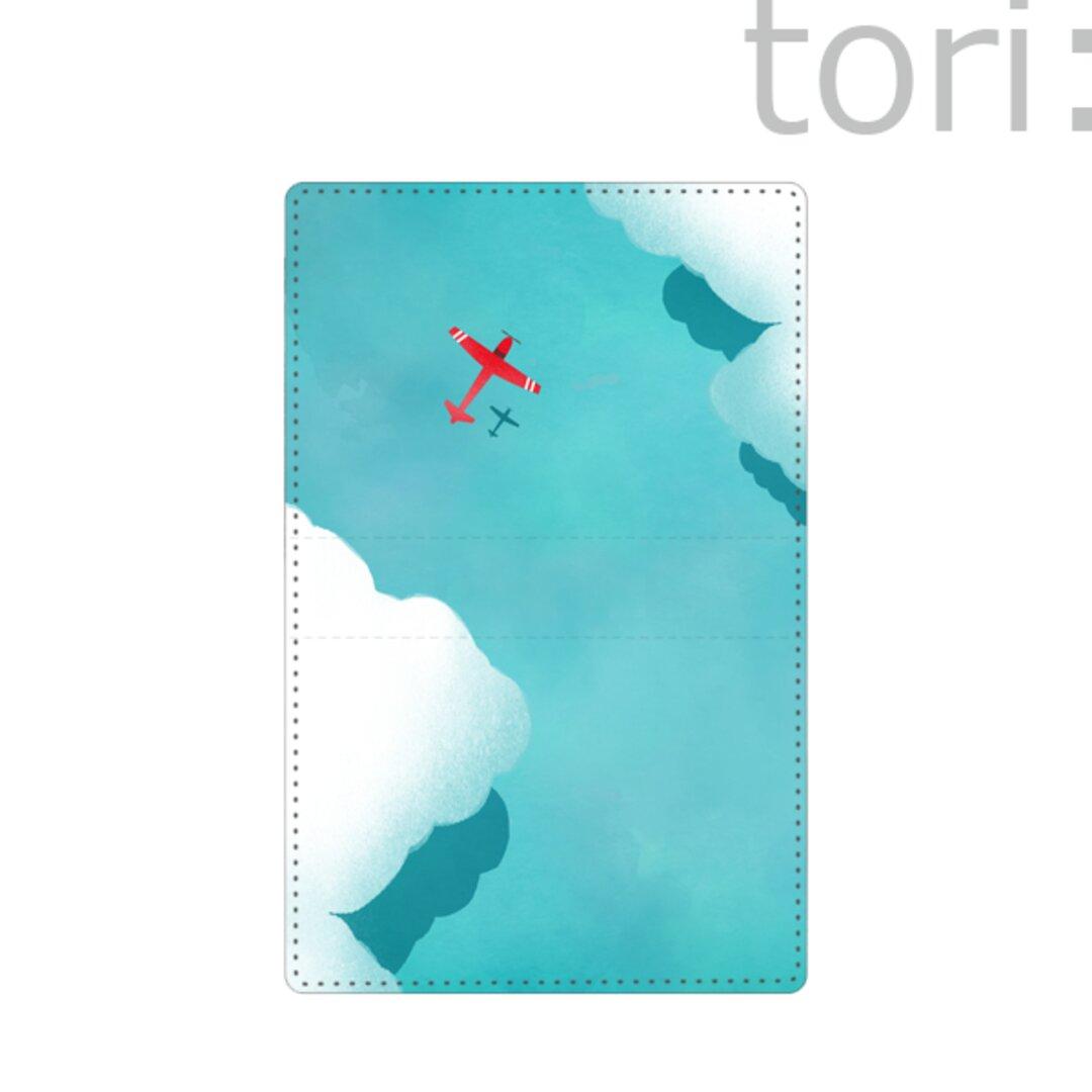 カードケース 定期入れ 名刺入れ 赤い飛行機